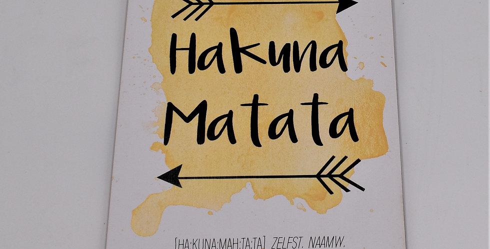 Hakuna Matata 14x20