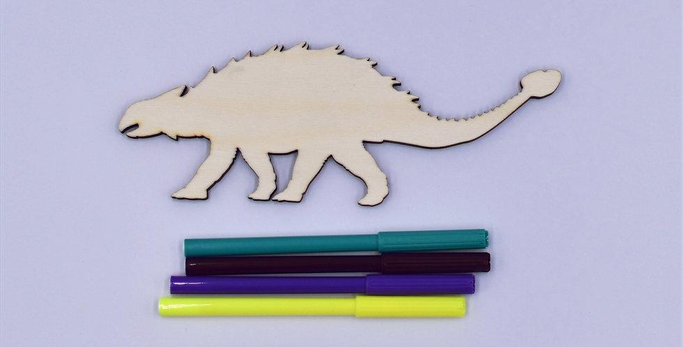 Dino2 gelaserd  + 4 random stiften