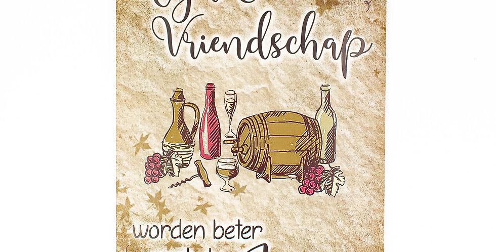 Vriendschap en wijn 30x 42 cm