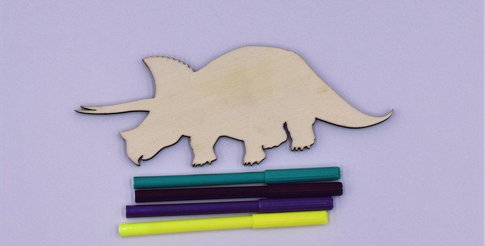 Dino3 gelaserd  + 4 random stiften