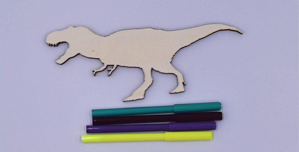 Dino1 gelaserd + 4 random stiften