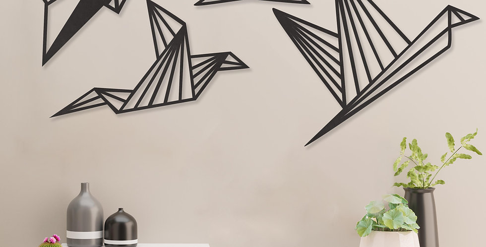 Geometrische vogels set