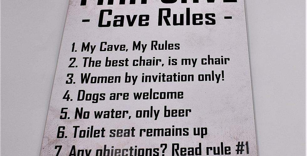 Mancave rules 30x42 cm