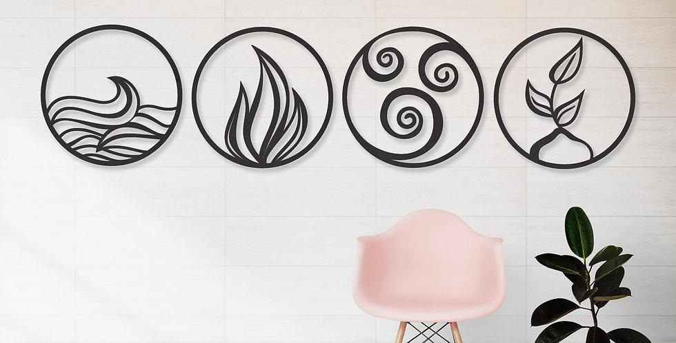 4 elementen cirkel