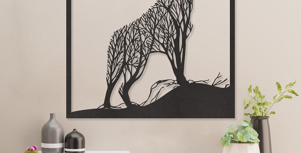 Wolf uit takken en bomen