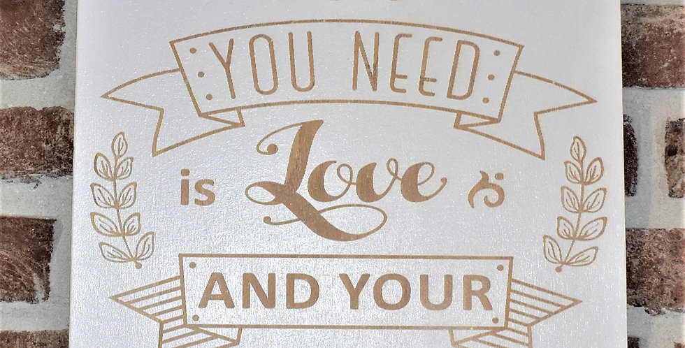 All you need is love and your family 29x29cm