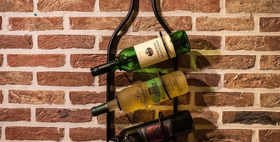 Luxe design wijnrek metaal voor 4 flessen