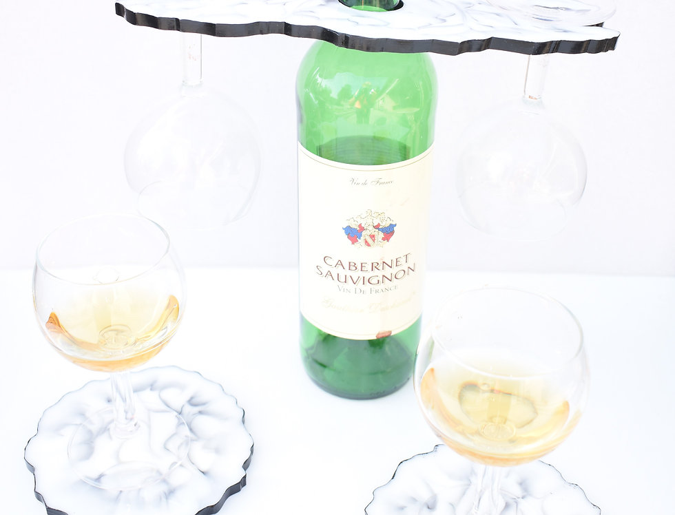 Wit marmer 2 glazen