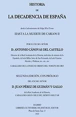 Canovas del Castillo, Antonio. - Histori