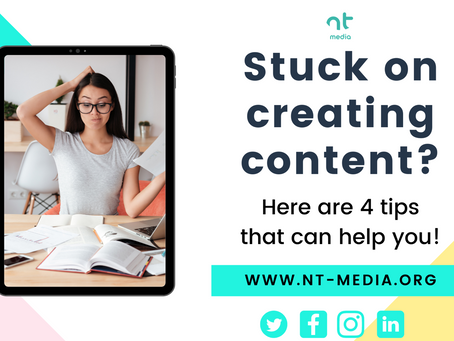 Stuck On Creating Content? 4 Tips That Can Help You