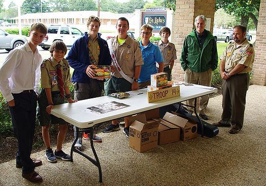 Boy Scouts at St. Luke's Episcopal Church in Baton Rouge