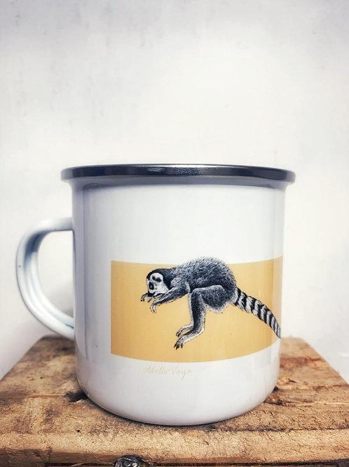 """Emaille Tasse """"Lemuren"""" 300ml - Atelier Vaya"""