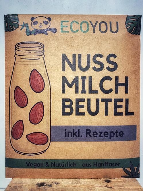 Nussmilchbeutel aus Hanffaser inkl. Rezepte
