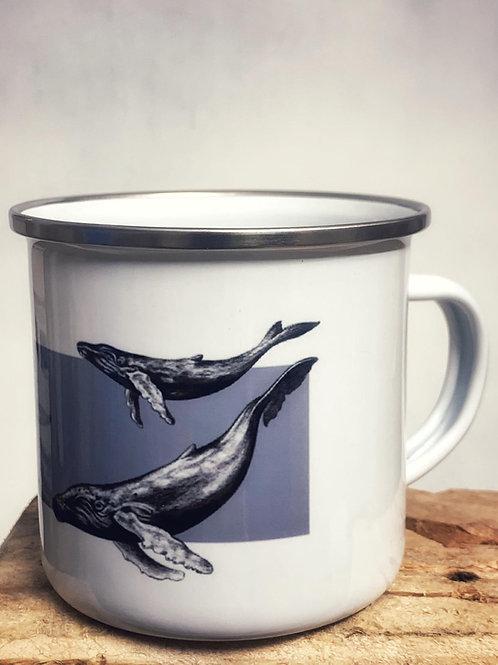 "Emaille Tasse ""Wale"" 300ml - Atelier Vaya"