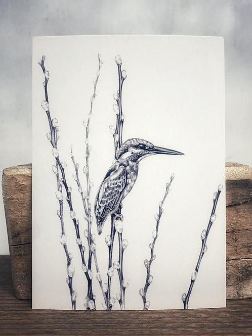 Postkarte 'Eisvogel' - Atelier Vaya