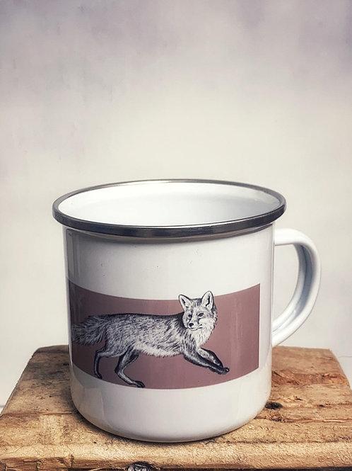 "Emaille Tasse ""Fuchs"" 300ml - Atelier Vaya"