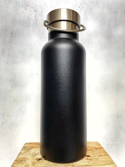 Thermoflasche schwarz aus Edelstahl 500ml H1238-08
