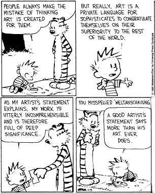 artists statements by calvin and hobbes_
