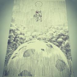 Facebook - Get lost #space #lostinspace #drawing #sketch #illustration #penandink #crosshatch #plane