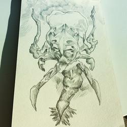 Facebook - Polter is my geist #poltergeist #drawing #sketch #sketchbook #inkonpaper #penandink #ghos