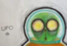 ufo alien friend and his little spacecraft