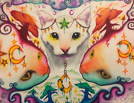 cats, witchy cats, whimsical, fantastical cats