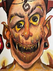 satanic smile and devilish fear