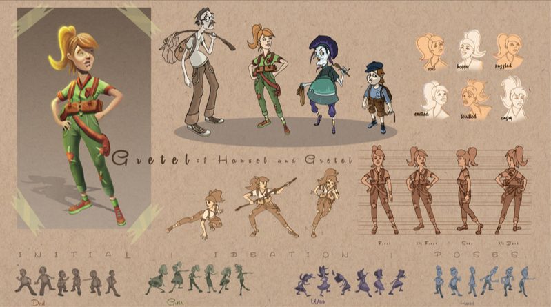 Hansel and Gretel Character Sketches