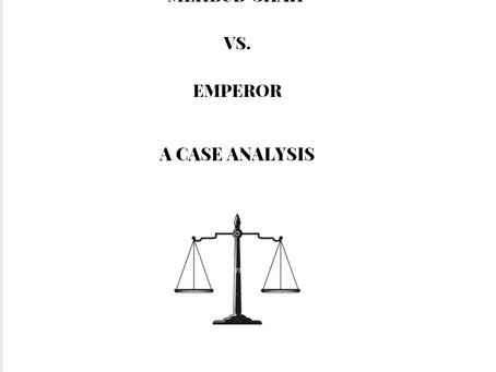 Mehbub Shah v. Emperor: Case Analysis