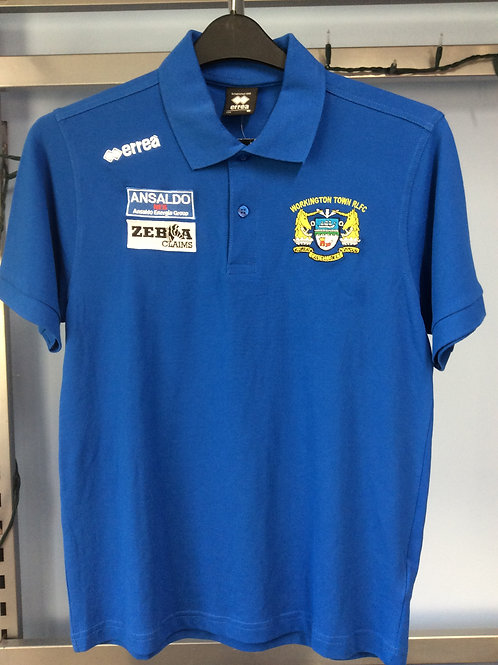 Workington Town Errea Blue Polo