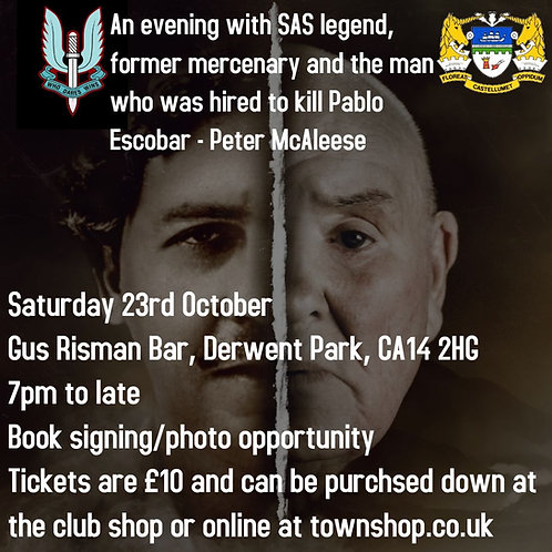 An evening with SAS Legend Peter McAleese