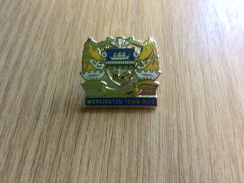 Workington Town RLFC Crest Pin Badge Blue