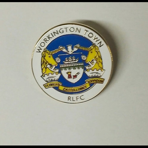 Workington Town Pin badge, blue background