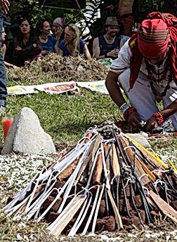 Maya cosmovision sacred fire fuego sagrado