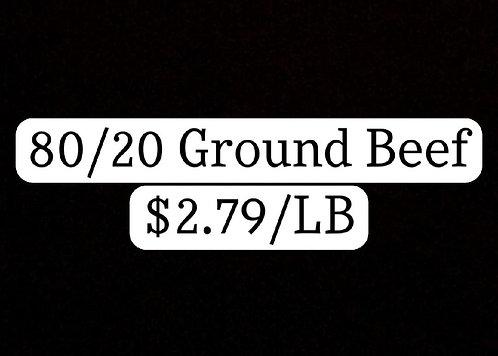 80/20 GROUND BEEF (1 LB)