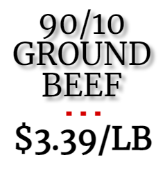 *SALE!* 90/10 Ground Beef (1 lb roll)