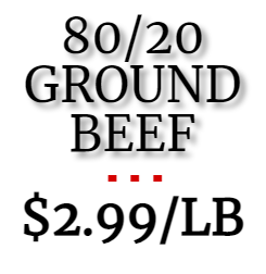 *SALE!* 80/20 Ground Beef (1 lb roll)