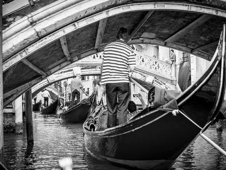 Gondola Traffic Jam, Venice