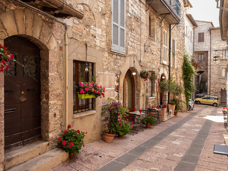 Street, Assisi