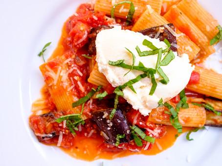 Eggplant Rigatoni and Ricotta