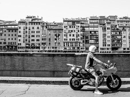 Biker Along the Arno, Florence