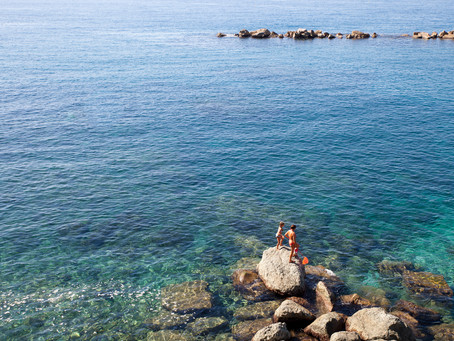 Mother and Daughter off the Coast of Monterosso