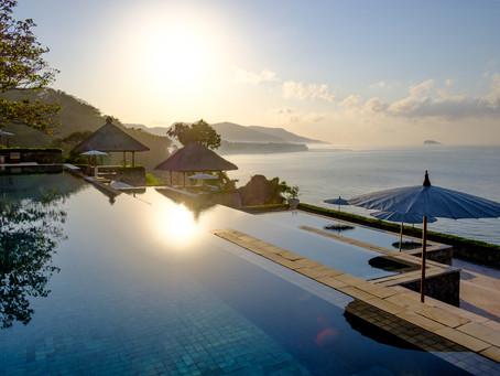 Sunrise Over the Pool, Amankila, Bali