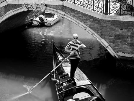 Poised Gondolier, Venice