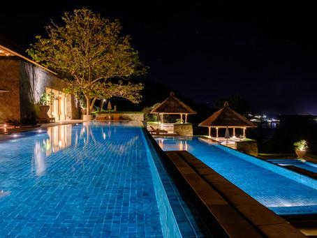 Night Swim, Amankila, Bali