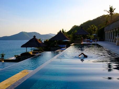 Night Swim at Amankila, Bali