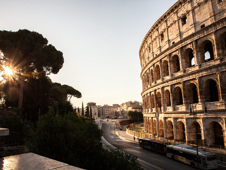 Early morning at the Colosseum