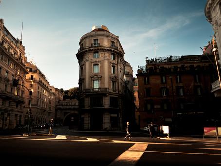 Street at Sunrise II, Rome