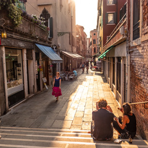 Sunset Stroll, Venice