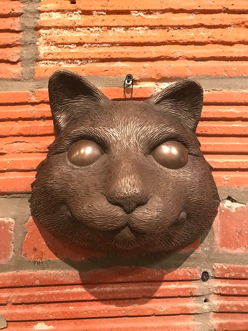 COLD CAST BRONZE CAT MASK
